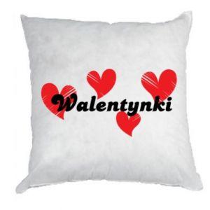 Poduszka Walentynki, z sercami
