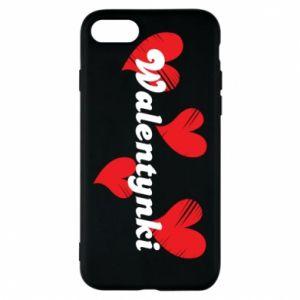 Etui na iPhone 7 Walentynki, z sercami