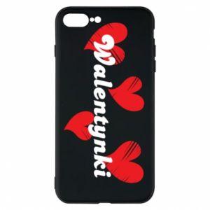 Etui na iPhone 7 Plus Walentynki, z sercami