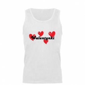 Męska koszulka Walentynki, z sercami