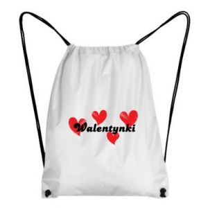 Plecak-worek Walentynki, z sercami