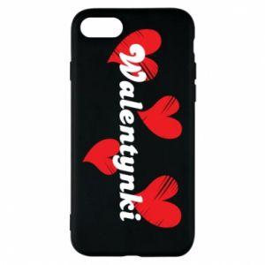 Etui na iPhone 8 Walentynki, z sercami