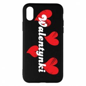 Etui na iPhone X/Xs Walentynki, z sercami