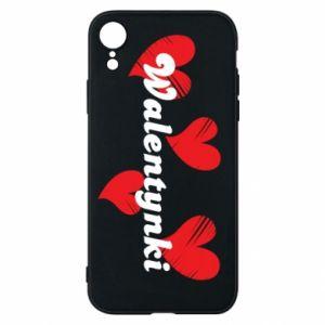 Etui na iPhone XR Walentynki, z sercami