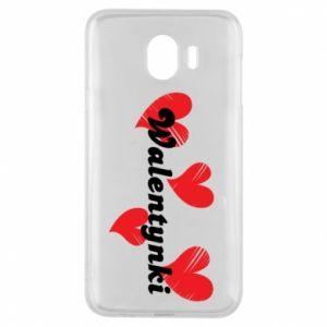 Etui na Samsung J4 Walentynki, z sercami