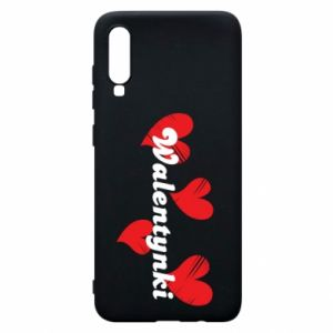 Etui na Samsung A70 Walentynki, z sercami