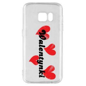 Etui na Samsung S7 Walentynki, z sercami