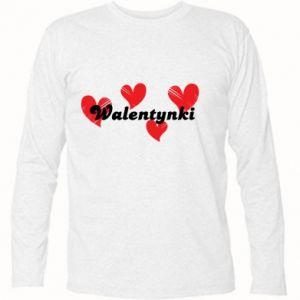 Koszulka z długim rękawem Walentynki, z sercami