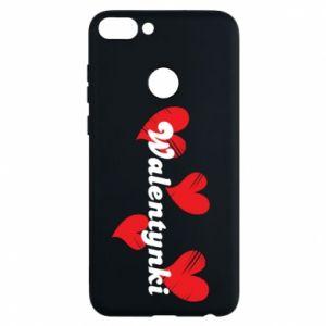 Etui na Huawei P Smart Walentynki, z sercami