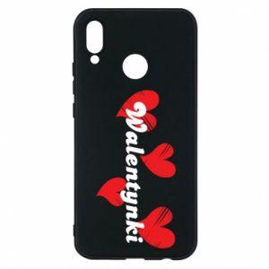 Etui na Huawei P20 Lite Walentynki, z sercami