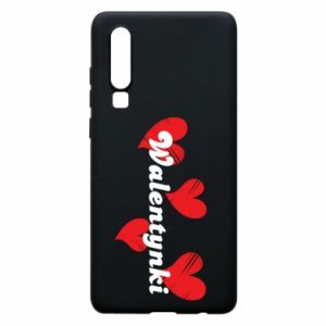 Etui na Huawei P30 Walentynki, z sercami