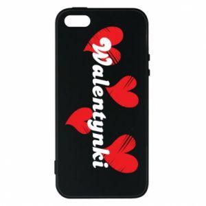 Etui na iPhone 5/5S/SE Walentynki, z sercami