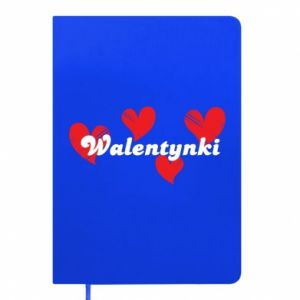 Notepad Valentine's Day, with hearts