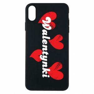 Etui na iPhone Xs Max Walentynki, z sercami