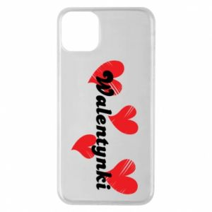 Etui na iPhone 11 Pro Max Walentynki, z sercami