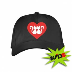 Kids' cap Cats in the heart