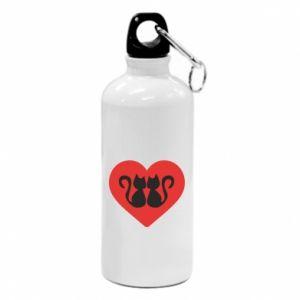 Water bottle Cats in the heart