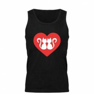 Men's t-shirt Cats in the heart