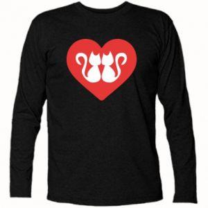 Koszulka z długim rękawem Koty w sercu