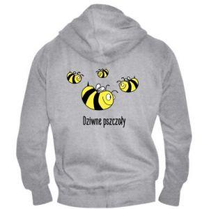 Męska bluza z kapturem na zamek Dziwne pszczoły