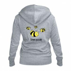 Damska bluza na zamek Dziwne pszczoły