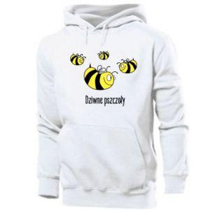 Męska bluza z kapturem Dziwne pszczoły
