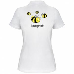 Damska koszulka polo Dziwne pszczoły