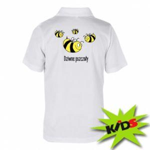 Dziecięca koszulka polo Dziwne pszczoły