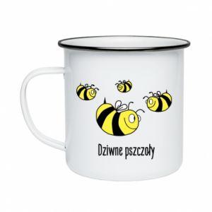 Kubek emaliowane Dziwne pszczoły