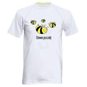 Męska koszulka sportowa Dziwne pszczoły