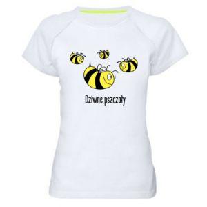 Damska koszulka sportowa Dziwne pszczoły