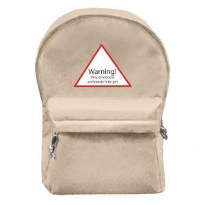 Plecak z przednią kieszenią Warning! Very emotional and needy little girl