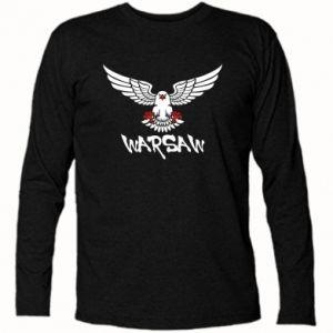 Koszulka z długim rękawem Warsaw eagle black ang red