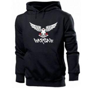 Męska bluza z kapturem Warsaw eagle black ang red