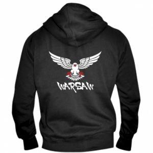 Męska bluza z kapturem na zamek Warsaw eagle black ang red