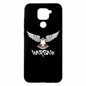 Etui na Xiaomi Redmi Note 9/Redmi 10X Warsaw eagle black ang red