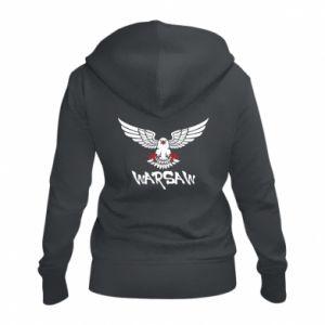 Damska bluza na zamek Warsaw eagle black ang red