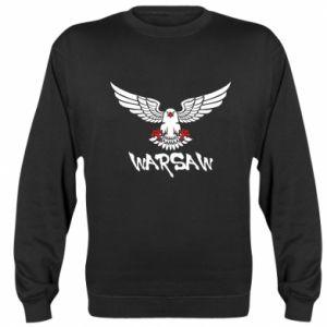 Bluza (raglan) Warsaw eagle black ang red