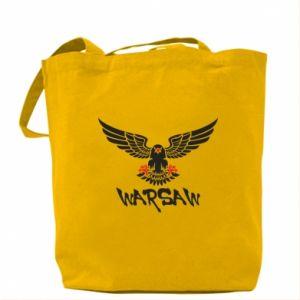 Torba Warsaw eagle black ang red