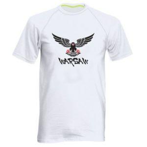 Męska koszulka sportowa Warsaw eagle black ang red