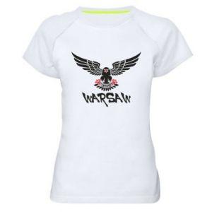 Damska koszulka sportowa Warsaw eagle black ang red