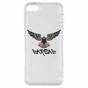 Etui na iPhone 5/5S/SE Warsaw eagle black ang red