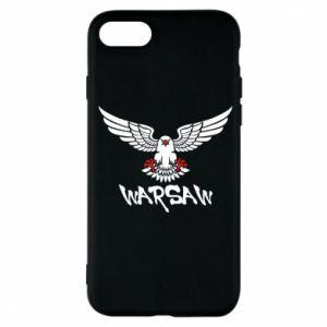 Etui na iPhone 7 Warsaw eagle black ang red