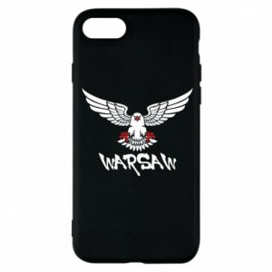 Etui na iPhone 8 Warsaw eagle black ang red