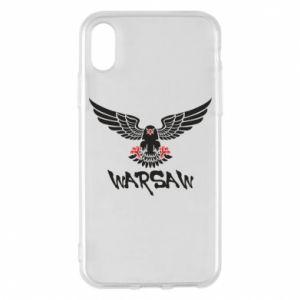 Etui na iPhone X/Xs Warsaw eagle black ang red