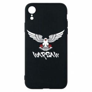 Etui na iPhone XR Warsaw eagle black ang red