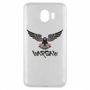 Etui na Samsung J4 Warsaw eagle black ang red