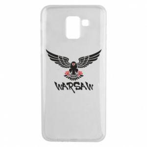 Etui na Samsung J6 Warsaw eagle black ang red