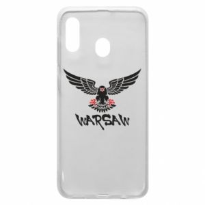 Etui na Samsung A20 Warsaw eagle black ang red