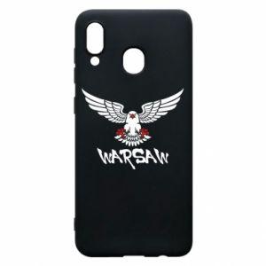 Etui na Samsung A30 Warsaw eagle black ang red
